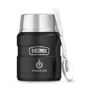 Thermos® Stainless King™ Food Jar with Spoon - 16 Oz. Black