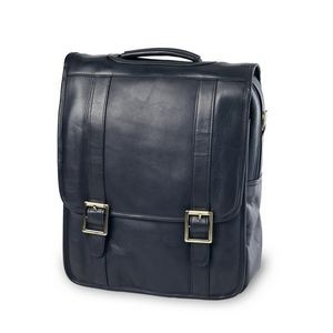 Leather Convertible Laptop Backpack/Briefcase